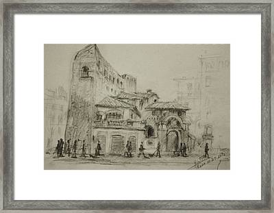 Piazza Fiume Rome Framed Print by Ylli Haruni