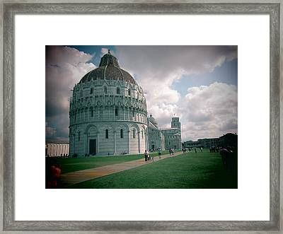 Piazza In Piza Framed Print
