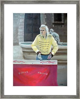 Piazza Puppeteer Framed Print by Joe Lanni