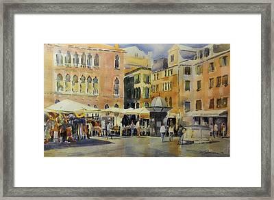 Piazza San Angelo Framed Print