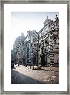 Piazza San Giovanni In The Morning Framed Print by Steven Gray
