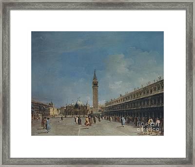 Piazza San Marco, 1760 Framed Print by Francesco Guardi