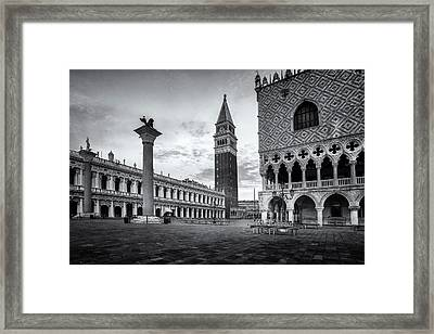 Piazza San Marco Framed Print by Andrew Soundarajan