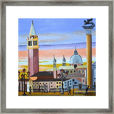 Framed Print featuring the painting Piazza San Marco by Donna Blossom