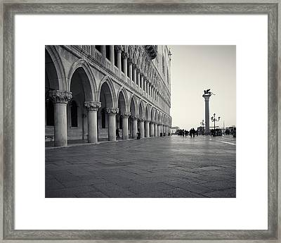 Framed Print featuring the photograph Piazza San Marco, Venice, Italy by Richard Goodrich
