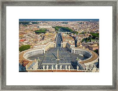 Piazza San Pietro Framed Print by Inge Johnsson