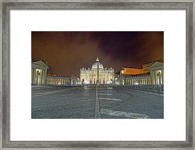 Piazza St. Peter Framed Print by Brian Kamprath