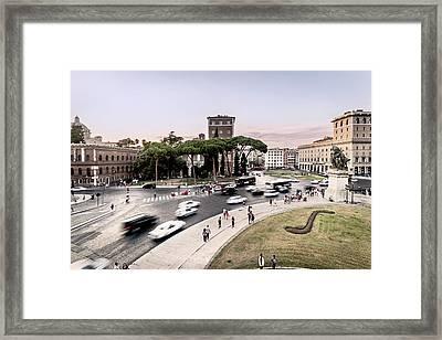 Piazza Venezia, Rome Framed Print by Ute Herzog