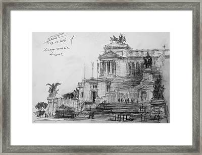 Piazza Venezia Rome Framed Print