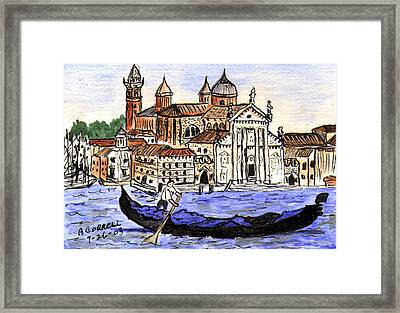Piazzo San Marco Venice Italy Framed Print