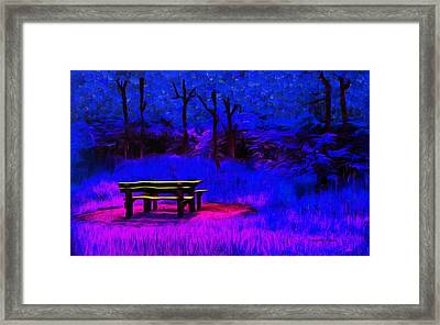 Pic-nic Blue - Pa Framed Print