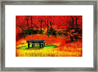 Pic-nic Red - Da Framed Print