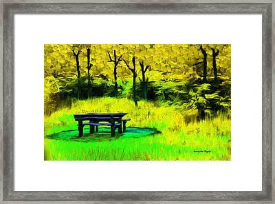 Pic-nic Yellow - Da Framed Print