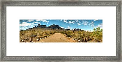 Picacho Peak State Park Panorama Framed Print