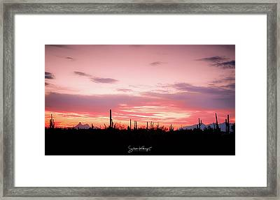 Picacho Sunset Framed Print
