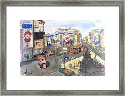 Picadilly Circus Framed Print by Dan Bozich