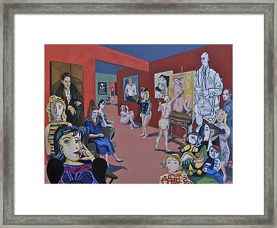 Picasso And Picassos Framed Print by Ralph Papa