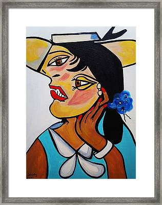 Yellow Hat Picasso Framed Print