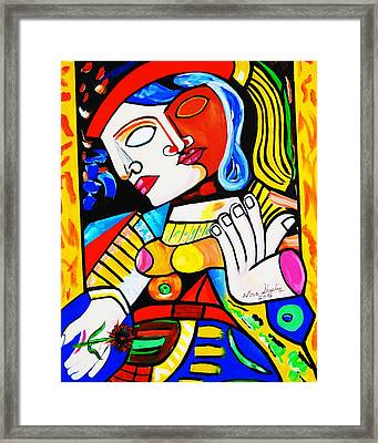 Picasso By Nora Turkish Man Framed Print
