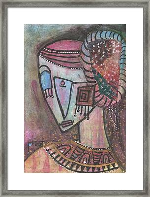 Framed Print featuring the mixed media Picasso Inspired by Prerna Poojara