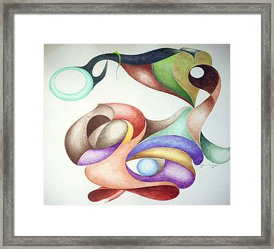 Picasso Parrot Framed Print by Lonnie Tapia