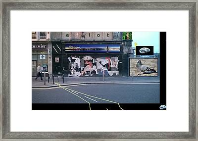 Picasso's Guernica In Glasgow, Scotland Framed Print by Gregg Elliot