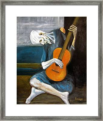 Picasso's Old Guitarist Framed Print
