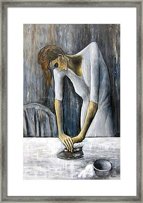 Picasso's Woman Ironing Framed Print