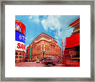 Piccadilly Circus London Framed Print by Chris Smith