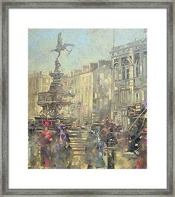 Piccadilly Circus Framed Print by Peter Miller