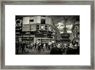 Framed Print featuring the photograph Piccadilly  by Stewart Marsden