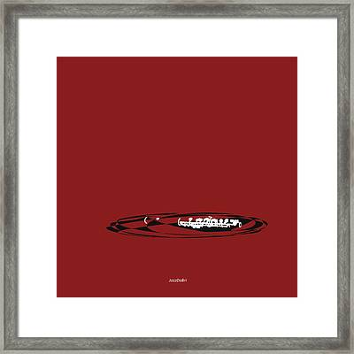 Piccolo In Orange Red Framed Print