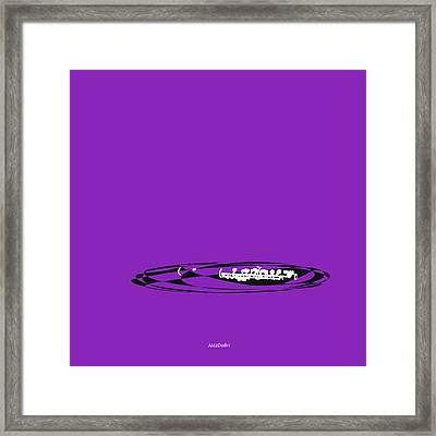 Piccolo In Purple Framed Print