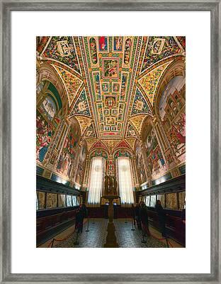Piccolomini Library Siena Italy Framed Print by Joan Carroll