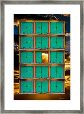 Framed Print featuring the photograph Pick A Door by Harry Spitz