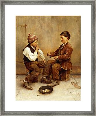 Pick A Hand, 1889 Framed Print