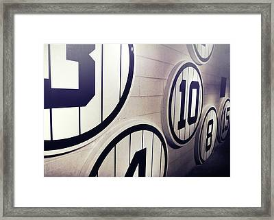 Pick A Number Framed Print by JAMART Photography