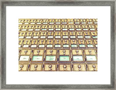 Pick A P. O. Box Framed Print by Caitlyn  Grasso