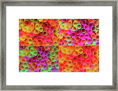 Framed Print featuring the photograph Pick A Straw By Kaye Menner by Kaye Menner