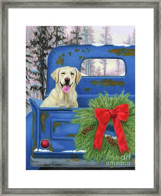 Pick-en Up The Christmas Tree Framed Print by Sarah Batalka