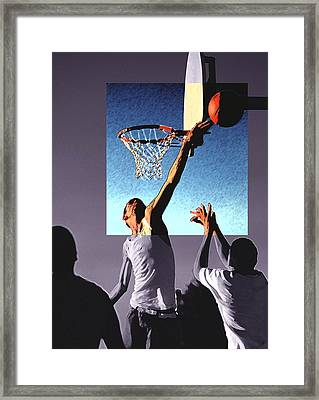 Pick Up Game Framed Print by Gerard Fritz
