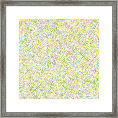 Pick Up Sticks And Patches Framed Print by Eloise Schneider