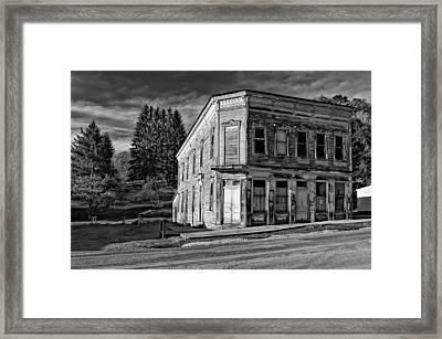 Pickens Wv Monochrome Framed Print by Steve Harrington