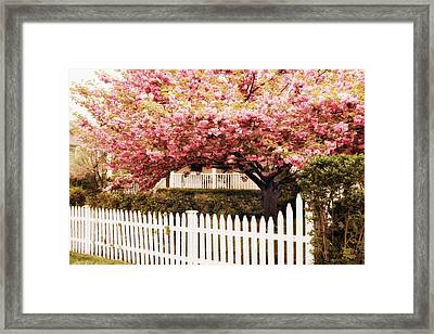 Picket Fence Charm Framed Print by Jessica Jenney