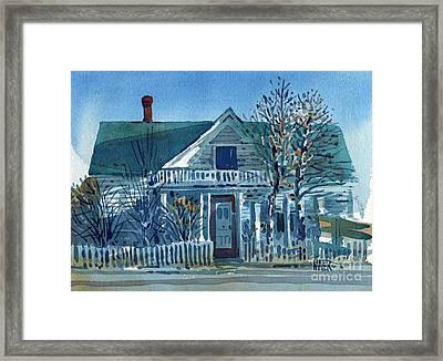 Picket Fence Framed Print by Donald Maier