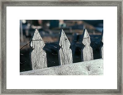 Picket Fence Framed Print by Douglas Pike