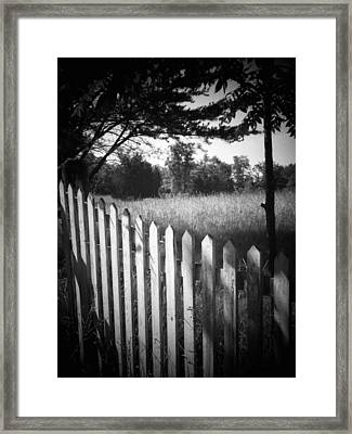 Picket Fence Landscape Framed Print by Michael L Kimble