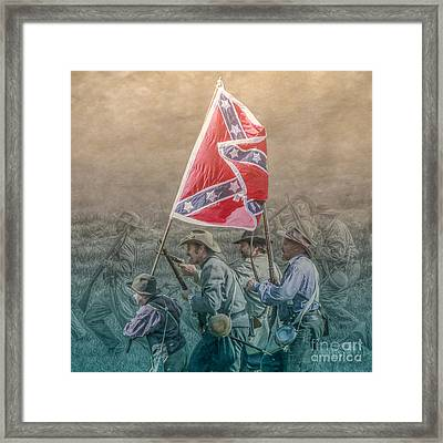 Pickett's Charge At Gettysburg Framed Print