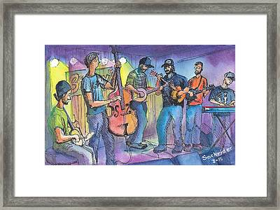 Pickin On Phish At Barkleys Framed Print by David Sockrider
