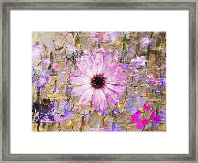 Framed Print featuring the photograph Pickin Wildflowers by Amanda Eberly-Kudamik